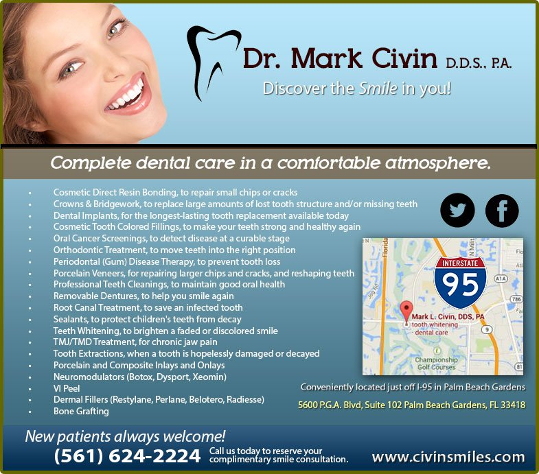 Dental Services Mark L. Civin, D.D.S.