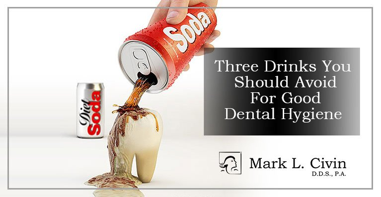 image shows drinking soda is bad for your teeth